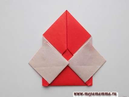 Дед мороз оригами. Рукав с левой стороны