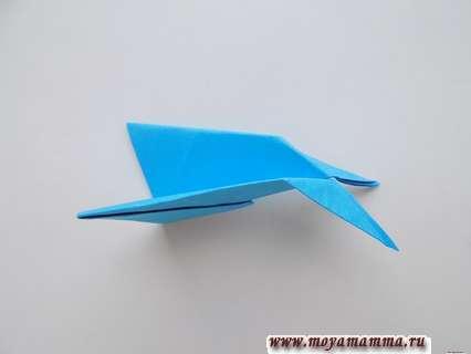 Самолет оригами для детей. Хвостовая часть самолета