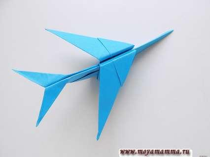 Как сделать самолет оригами из бумажных модулей