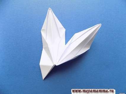 Снежинка оригами. 2 лучика снежинки.