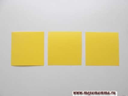 Три квадратных заготовки для листа