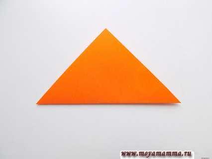 Складывание по диагонали заготовки