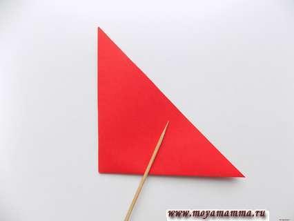 Складывание треугольника пополам