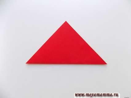 Сгибание квадрата по диагонали