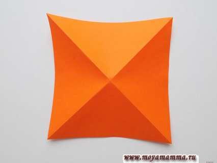 Выполнение диагональных сгибов