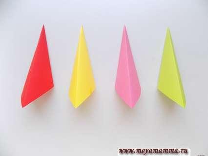 Заготовки для зонтика из других квадратов