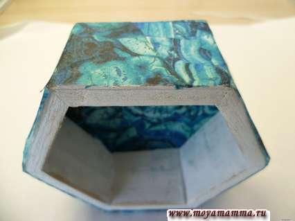 Оклеивание рисовой бумагой деревянной заготовки
