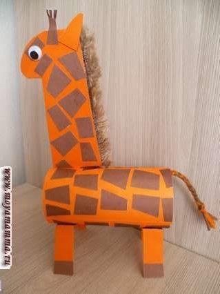 Жираф из втулки