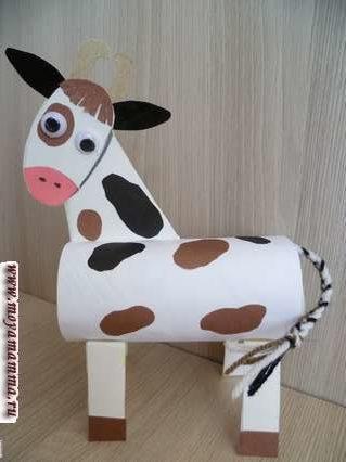 корова из втулки