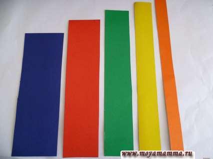 Цветные полоски из картона