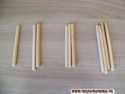 Заготовки для сортера из бамбуковых палочек