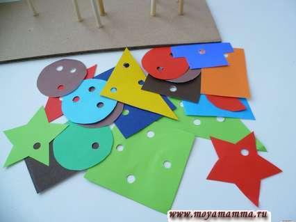 Развивающие игры для детей своими. Детали для сложного сортера