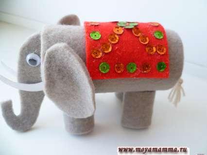 Изготовление накидки для слона