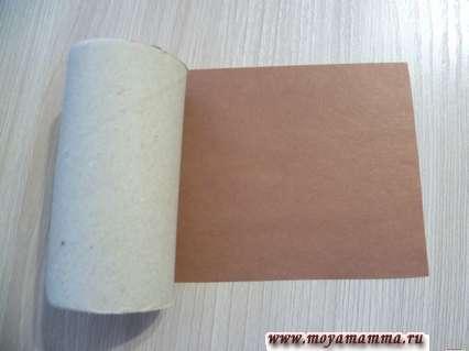 Картонная втулка и цветная бумага