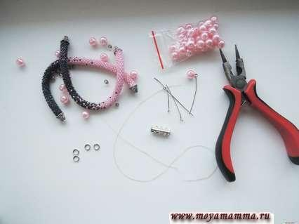 Необходимые материалы для тройного браслета