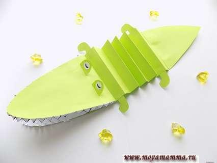 Как сделать крокодила из бумаги