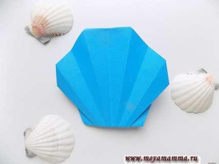 Как сделать ракушку оригами
