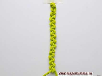 Плетение браслета 13 см