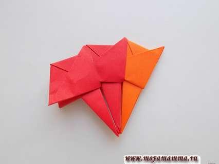 Леденец из бумаги. Модуль оранжевого цвета.