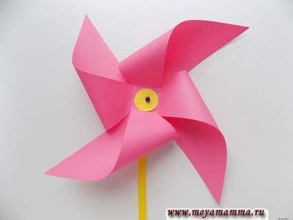 Как сделать ветрячок из бумаги