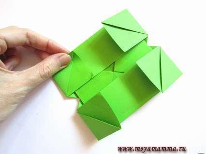 Рамка для фото оригами. Уголки для лучшего крепления фотографии.