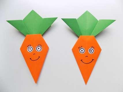 Аппликация морковки. Две морковки.
