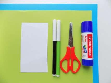 Цветная бумага, фломастеры, клей