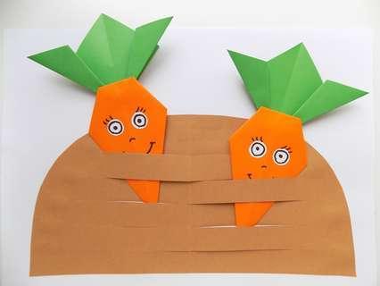 аппликация морковки