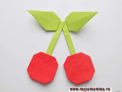 вишня оригами