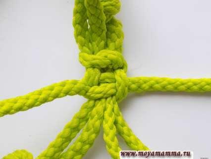 Браслет из шнура. Затягивание узла