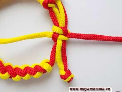 Браслет из двух шнуров. Узелок