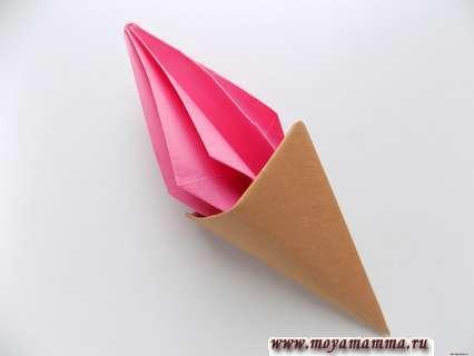 объемное мороженое из бумаги