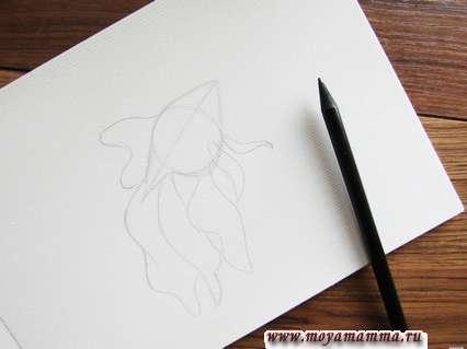 Рисуем красивыми волнообразными линиями.