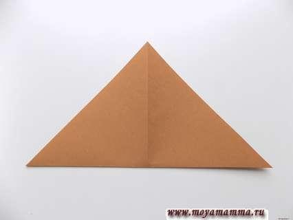Заготовка сложенная в виде треугольника