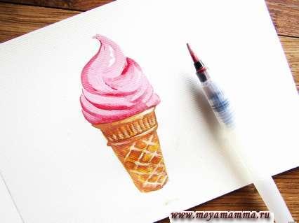 Рисование мороженое