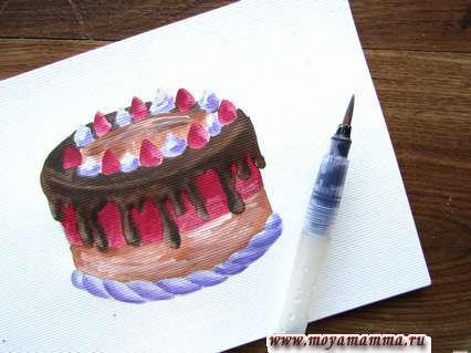 Рисование шоколада
