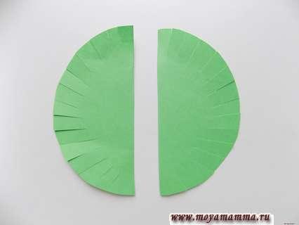 Разрезание круглой заготовки на 2 половинки.
