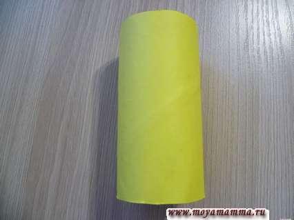 Втулка оклеенная желтой бумагой