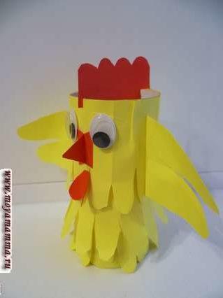 цыпленок из втулки