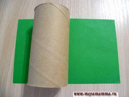 Втулка и зеленая бумага