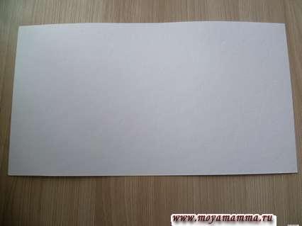 Прямоугольник из плотного картона