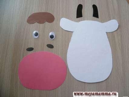Детали головы коровы