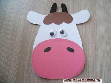 Поделка корова. Сборка головы коровы