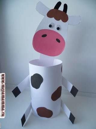 Поделка Корова из картона