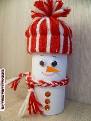 снеговик из втулки