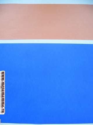 Цветная бумага для моря и горизонта