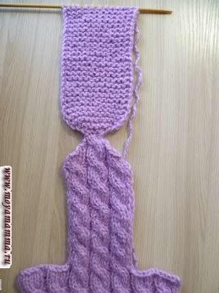 Вязание стопы носочка