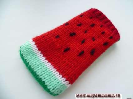 вязание чехла для телефона