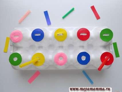 Сортер из коробки для яиц