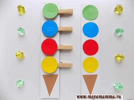 Развивающая игра собери по образцу мороженое